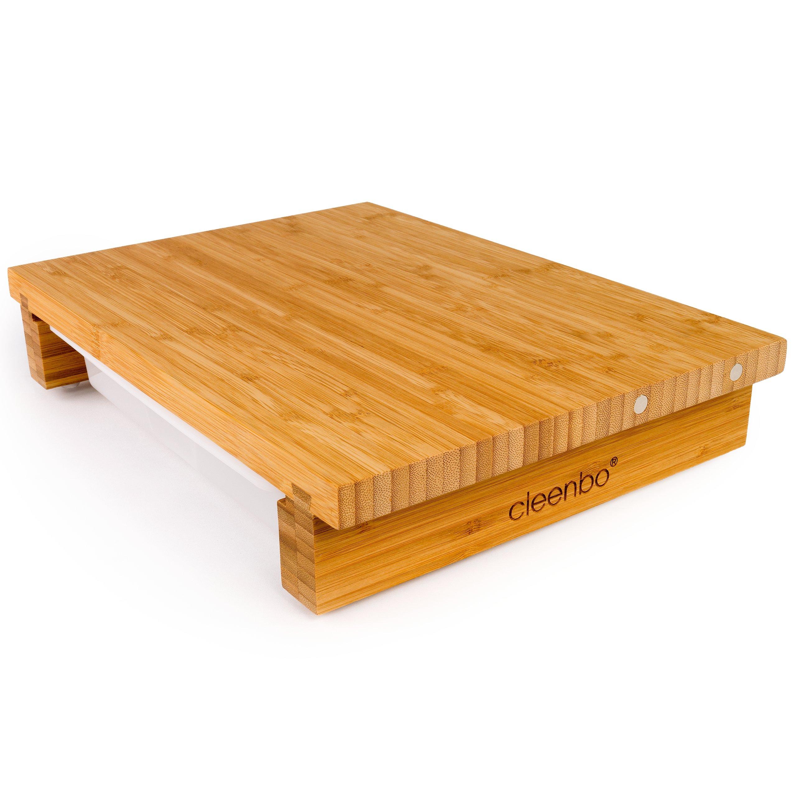 cleenbo bambus schneidebrett mit messerhalterung 49 90. Black Bedroom Furniture Sets. Home Design Ideas