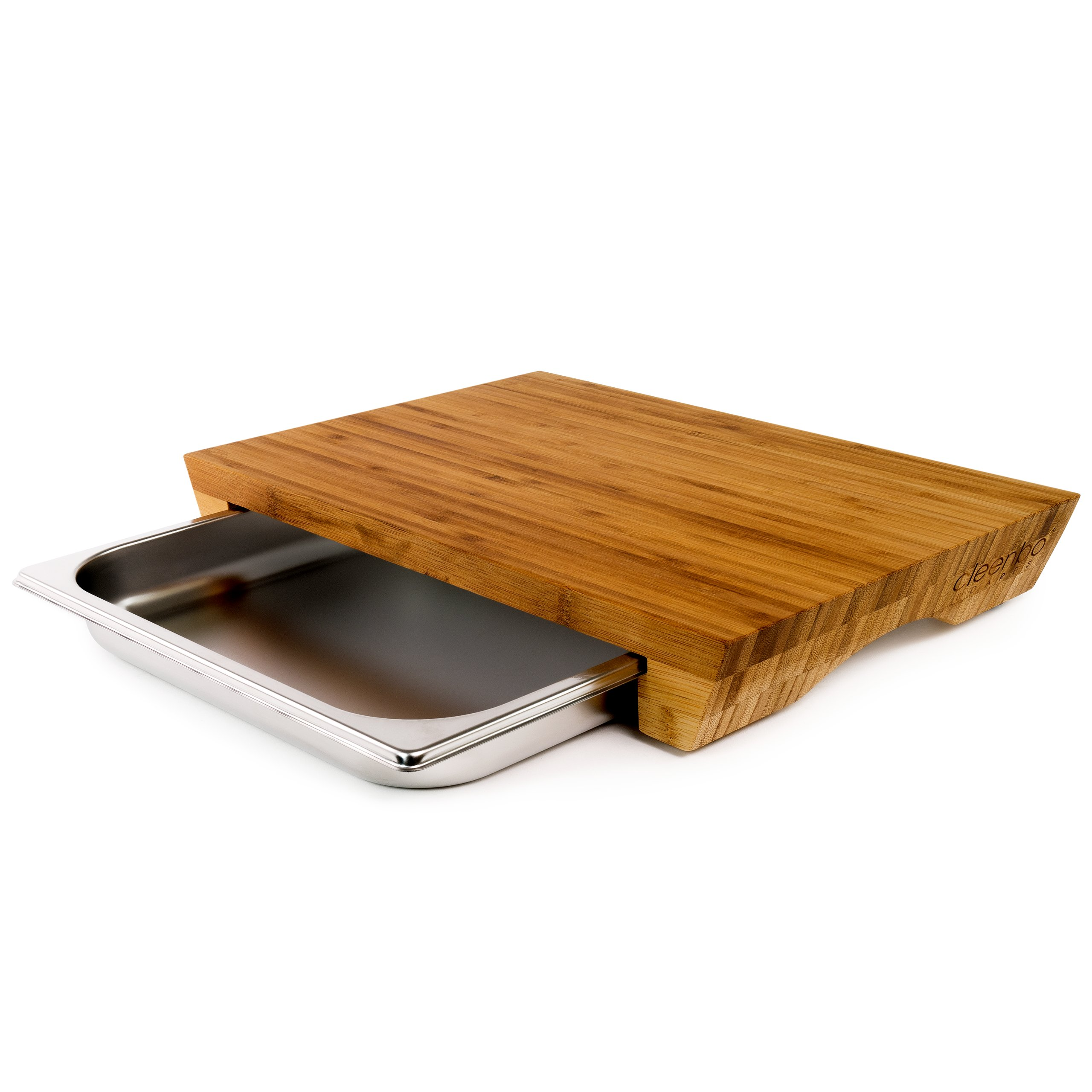 stylisches cleenbo bambus schneidebrett mit auffangwanne 59 90. Black Bedroom Furniture Sets. Home Design Ideas